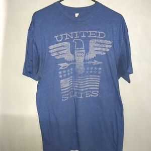 Mens American Apparel United Stated T Shirt Blue